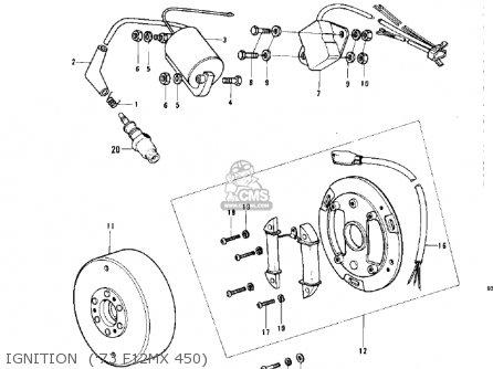 Kawasaki Kx450 1974 parts list partsmanual partsfiche