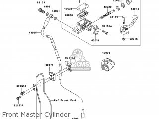 Kawasaki KX450-D8F KX450F 2008 USA parts lists and schematics