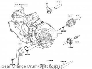 Kawasaki KX450-E9F KX450F 2009 USA parts lists and schematics