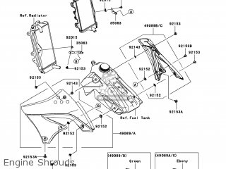 Kawasaki KX450-E9FA KX450F 2009 USA parts lists and schematics