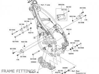 Kawasaki KX450D6F KX450F 2006 USA CANADA parts lists and