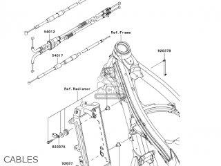 Kawasaki KX450D7F KX450F 2007 USA CANADA parts lists and