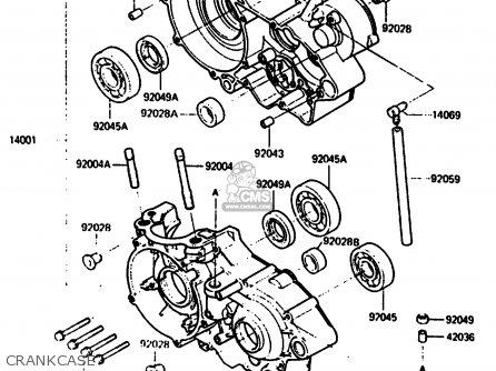 Kawasaki KX500-B2 1986 EUROPE UK AL parts lists and schematics