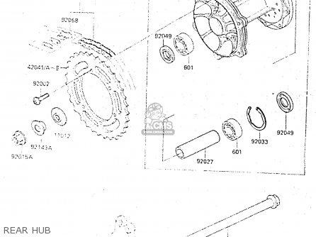 Kawasaki KX500-C1 1987 EUROPE UK AL parts lists and schematics