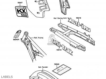 Kawasaki Kx500-d1 1988 Europe Uk Al parts list partsmanual