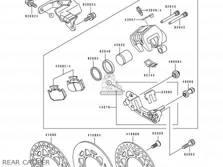 Kawasaki KX500-E1 1989 USA CANADA parts lists and schematics