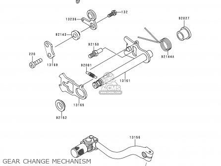 Kawasaki Kx500-e11 1999 Europe As parts list partsmanual