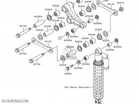 Kawasaki KX500-E12 2000 EUROPE AS parts lists and schematics