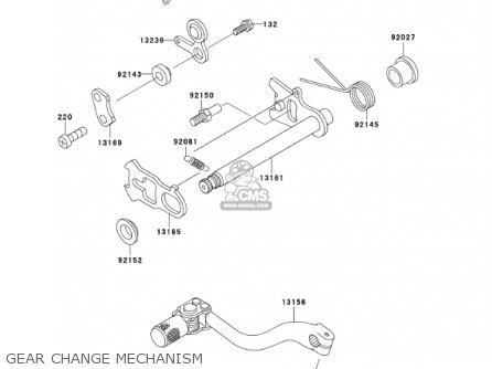 Kawasaki KX500-E13 KX500 2001 USA CANADA parts lists and
