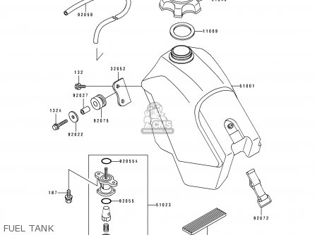 Kawasaki KX500-E2 1990 USA CANADA parts lists and schematics