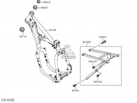 Kawasaki KX500-E6 1994 USA CANADA parts lists and schematics