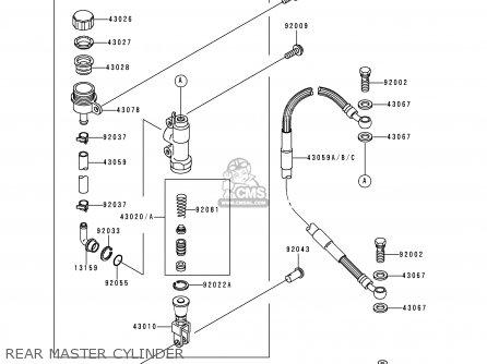 Kawasaki KX500-E8 1996 USA CANADA parts lists and schematics