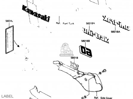 Kawasaki KX60-A1 1983 A1/A2 parts lists and schematics
