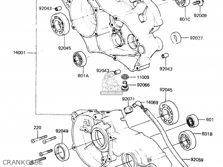 Kawasaki Kx60-a2 1984 A1/a2 parts list partsmanual partsfiche