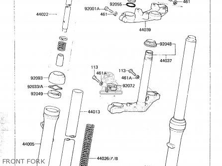 Kawasaki KX60-A2 1984 A1/A2 parts lists and schematics