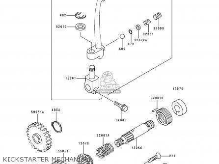 Kawasaki Kx60-b10 1994 Europe As parts list partsmanual