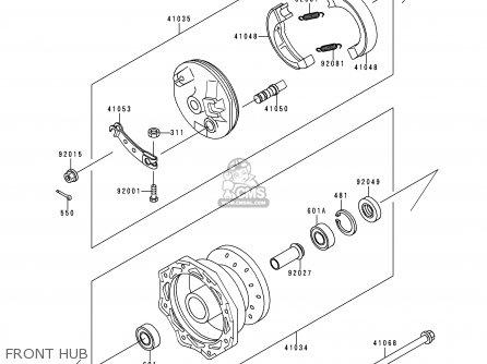 Kawasaki KX60-B14 1998 USA CANADA parts lists and schematics