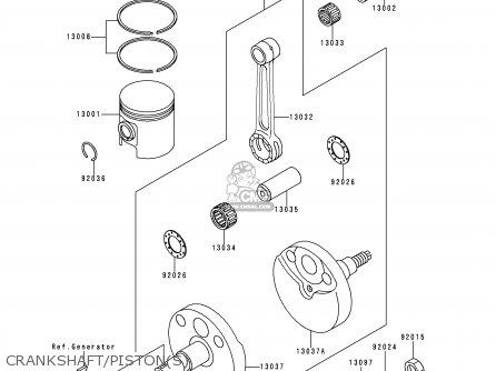 Kawasaki KX60-B15 1999 EUROPE AS parts lists and schematics