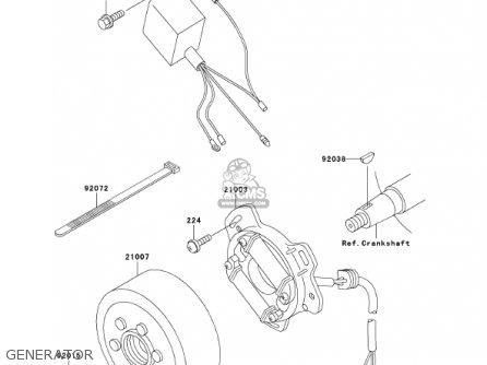 Kawasaki KX60-B17 KX60 2001 USA CANADA parts lists and