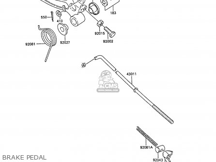 Kawasaki KX60-B5 1989 UNITED KINGDOM parts lists and