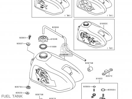 Kawasaki Kx60-b9 1993 Usa Canada parts list partsmanual