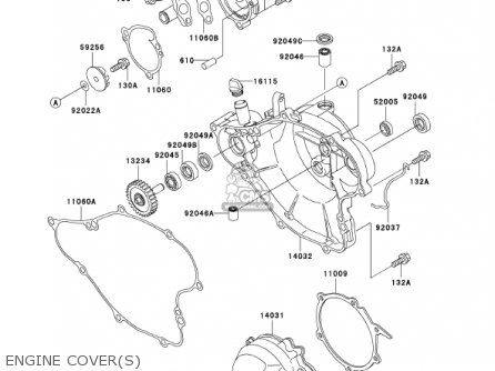 Kawasaki Kx65-a2 Kx65 2001 Usa Canada parts list