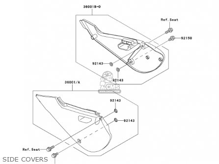 Kawasaki Kx65-a2 Kx65 2001 Usa Canada parts list