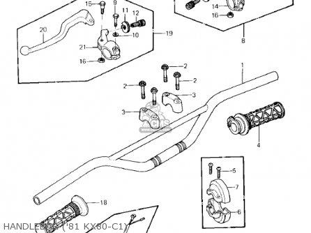 Kawasaki Kx80-c2 Kx80 1982 Usa Canada parts list
