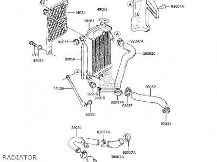 Kawasaki KX80-E1 KX80 1983 USA CANADA parts lists and