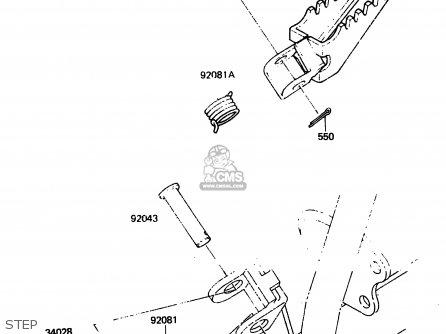 Kawasaki KX80-F2 1984 parts lists and schematics