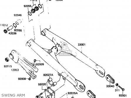Kawasaki KX80-F2 1984 parts lists and schematics