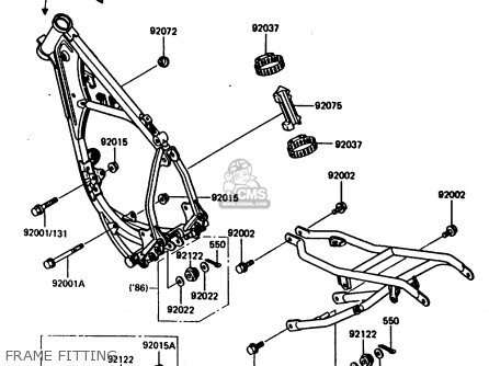 Kawasaki KX80-G2 1987 AL UR parts lists and schematics