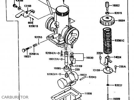 Kawasaki Kx80-h1 1986 West Germany parts list partsmanual