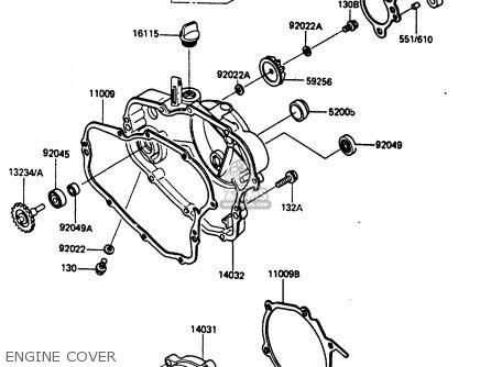 Kawasaki Kx80-j1 1986 United Kingdom Al parts list