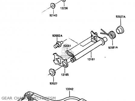 Kawasaki KX80-J1 1986 UNITED KINGDOM AL parts lists and