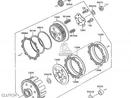 Kawasaki KX80-L2 1989 UNITED KINGDOM AL parts lists and