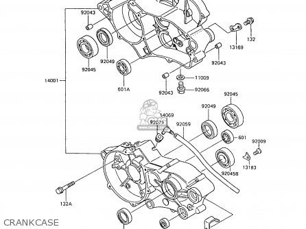 Kawasaki Kx80-n2 1989 Al parts list partsmanual partsfiche