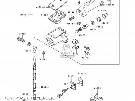 Kawasaki KX80-R3 1993 USA CANADA parts lists and schematics