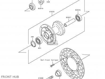 Kawasaki KX80-R4 1994 EUROPE parts lists and schematics