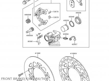 Kawasaki Kx80-r6 1996 Europe As parts list partsmanual