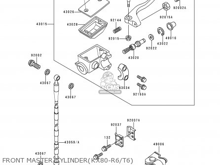 Kawasaki KX80-R6 1996 EUROPE AS parts lists and schematics