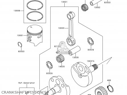 Kawasaki Kx80-r7 1997 Europe As parts list partsmanual
