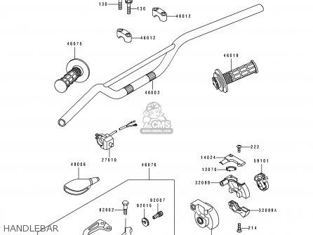 Kawasaki KX80-S1 1991 AL AS parts lists and schematics