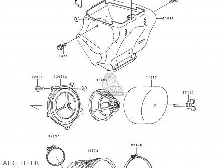 Kawasaki Kx80-t1 1991 United Kingdom parts list