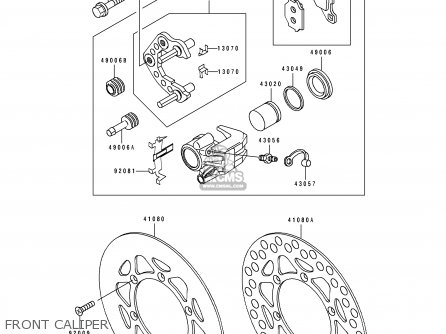 Kawasaki Kx80-v3 1993 Europe parts list partsmanual partsfiche