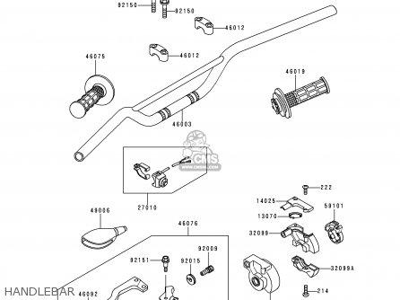 Kawasaki KX80-X1 KX80II 1998 EUROPE AS parts lists and