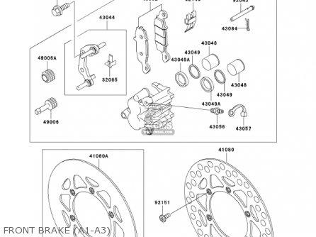 Kawasaki KX85-A1 KX85 2001 USA CANADA parts lists and