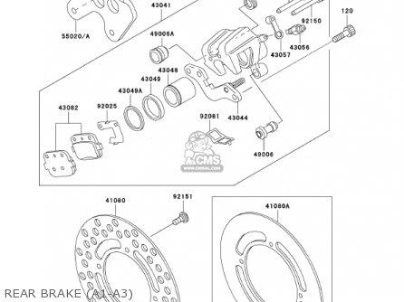Kawasaki Kx85-a1 Kx85 2001 Usa Canada parts list
