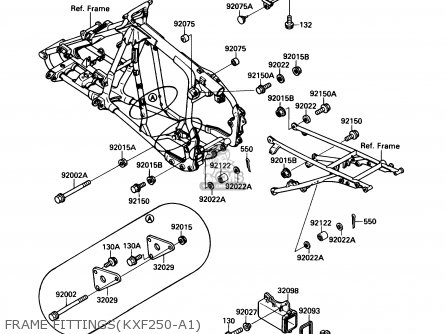 Kawasaki Kxf250-a1 Kxf250tecate4 1987 Usa parts list