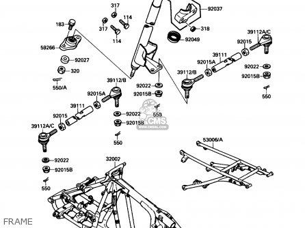 Kawasaki KXF250-A1 KXF250TECATE4 1987 USA parts lists and